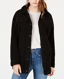 Women's Oversized Sherpa Trucker Jacket