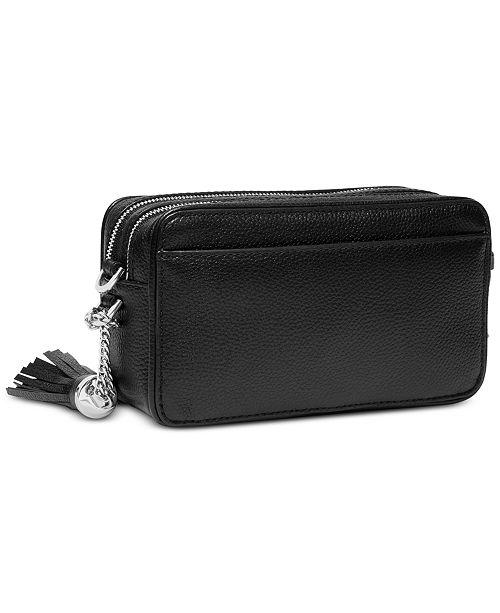 67923b07d674 Michael Kors Logo Pebble Leather Camera Bag & Reviews - Handbags ...