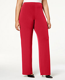 Alfani Petite & Plus Size Knit Wide-Leg Pant, Created for Macy's