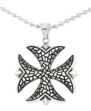 """Smith Celtic Cross 24"""" Pendant Necklace in Stainless Steel"""