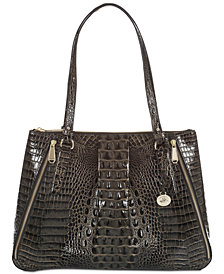 Brahmin Adina Melbourne Embossed Leather Tote