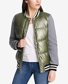 Levi's® Quilted Satin Baseball Jacket