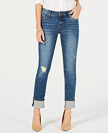 Kut from the Kloth Catherine Ripped Cuffed Jeans