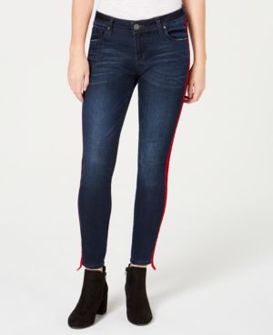 KUT FROM THE KLOTH Connie Side Stripe Ankle Skinny Jeans in Neighbor