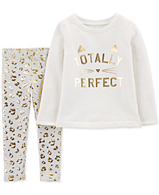 Carter's Toddler Girls 2-Pc. Perfect Top & Printed Leggings Set