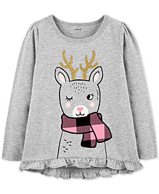 Carter's Toddler Girls Reindeer-Print Cotton T-Shirt