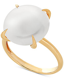 Cultured Freshwater Coin Pearl (13mm) in 14k Gold