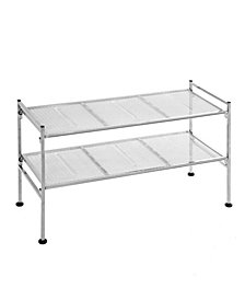 2 Tier Iron Mesh Utility Shoe Rack