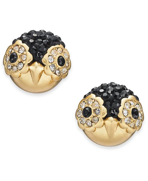 6a610d42e ... kate spade new york Gold-Tone Pavé Penguin Stud Earrings ...