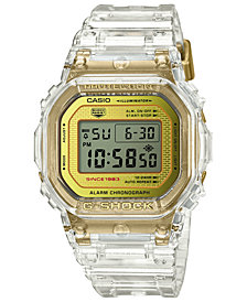 G-Shock Men's Digital Clear Resin Strap Watch 42.8mm