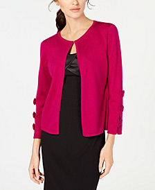 Ivanka Trump Bow-Sleeve Shrug Cardigan