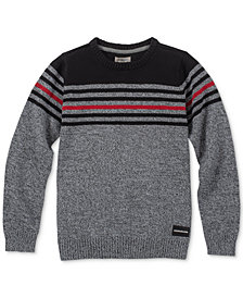 Calvin Klein Big Boys Strike Stripe Sweater