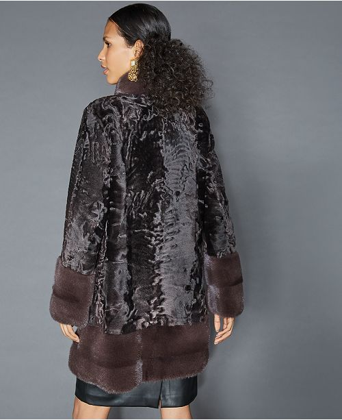 380cbe9cbbc The Fur Vault Mink-Fur-Trim Persian Lamb Coat   Reviews - The Fur ...