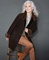 e61c2f9e4be The Fur Vault Mink-Fur-Trim Shearling Lamb Coat