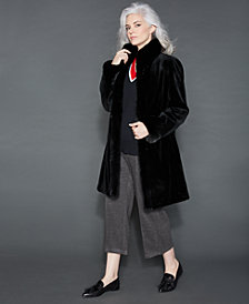 The Fur Vault Reversible Sheared Mink Coat