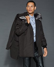 The Fur Vault Fox-Trim Fur-Lined Parka