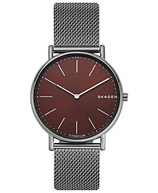 Skagen Men's Signatur Slim Stainless Steel Mesh Bracelet Watch 40mm