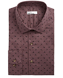 Bar III Men's Slim-Fit Stretch Tossed Berry Dot Dress Shirt, Created for Macy's