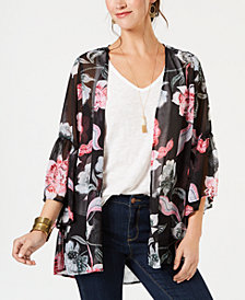 Style & Co Petite Printed Kimono, Created for Macy's