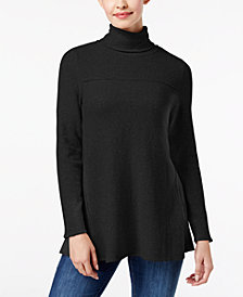 Style & Co Exposed-Seam Turtleneck Tunic, Created for Macy's