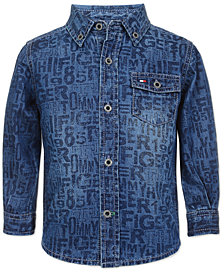 Tommy Hilfiger Baby Boys Cotton Printed Denim Shirt