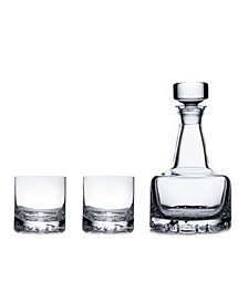 Erik Double Old Fashioned Glasses & Decanter Set