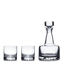 Orrefors Erik Double Old Fashioned Glasses & Decanter Set