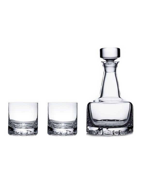 Orrefors Erik Double Old Fashioned Glasses & Decanter Set