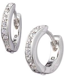 DKNY Pavé Huggie Hoop Earrings, Created for Macy's
