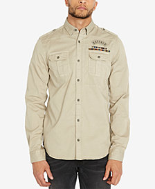 Buffalo David Bitton Men's Regular Fit Dual Pocket Patch Shirt