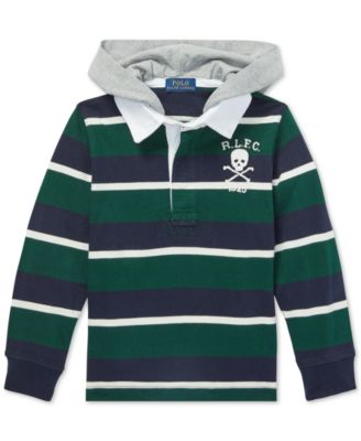 Polo Ralph Lauren Toddler Boys Striped Hooded Cotton Rugby Shirt - Shirts    Tees - Kids - Macy s d5aca28ee