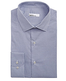 Bar III Men's Slim-Fit Stretch Connected Medallion Print Dress Shirt, Created for Macy's