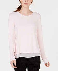 Maison Jules Petite Layered-Look Top, Created for Macy's