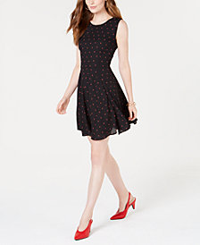 Maison Jules Printed Fit and Flare Dress, Created for Macy's