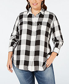 Levi's® Plus Size Ryan Button-Back Shirt