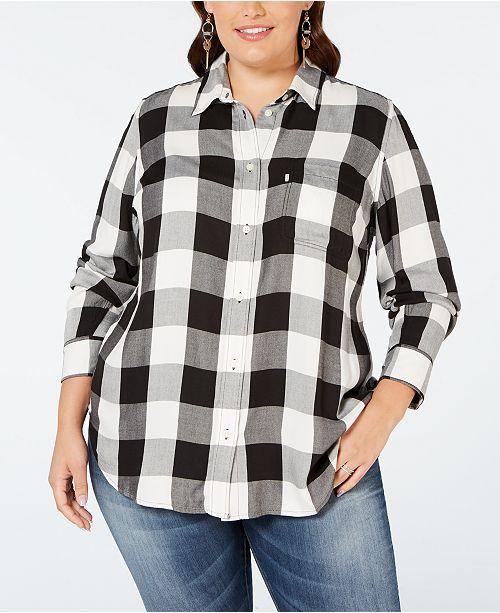 366da8422c6 Levi s Plus Size Ryan Button-Back Shirt   Reviews - Tops - Plus ...