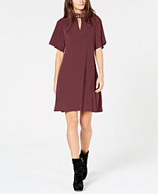 MICHAEL Michael Kors Grommet-Neck Keyhole Dress