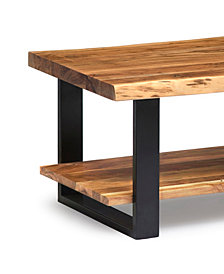Alpine Natural Live Edge Wood Coffee Table