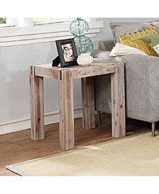Woodstock Acacia Wood With Metal Inset End Table