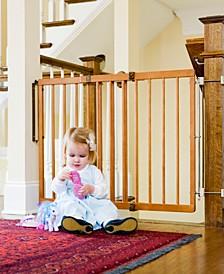 Wood Stairway Baby Gate