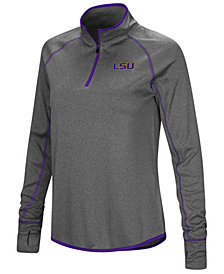Colosseum Women's LSU Tigers Shark Quarter-Zip Pullover