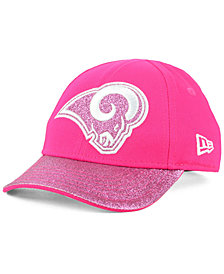 New Era Girls' Los Angeles Rams Shimmer Shine Adjustable Cap