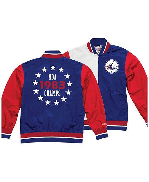 Mitchell   Ness Men s Philadelphia 76ers History Warm Up Jacket ... bdf475317