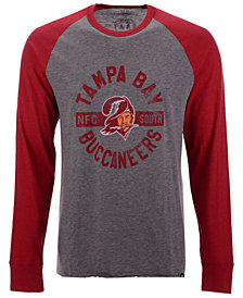'47 Brand Men's Tampa Bay Buccaneers Retro Encircled Long Sleeve Club Raglan T-Shirt