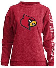 Pressbox Women's Louisville Cardinals Comfy Terry Sweatshirt