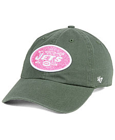 '47 Brand Women's New York Jets Moss Glitta CLEAN UP Cap