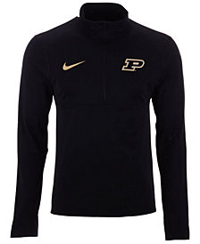 Nike Men's Purdue Boilermakers Element Quarter-Zip Pullover