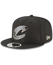 New Era Cleveland Cavaliers Black Enamel 9FIFTY Snapback Cap