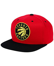 Mitchell & Ness Toronto Raptors Black & Gold Metallic Snapback Cap