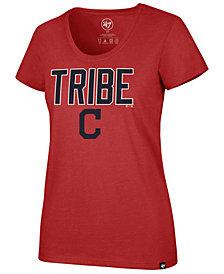 '47 Brand Women's Cleveland Indians Club Scoop Logo T-Shirt